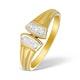 9K Gold Diamond Pave Design Ring - A3878 - image 1