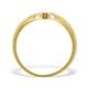 9K Gold Diamond Pave Design Ring - A3878 - image 2