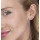 Blue Topaz 5 x 4mm 9K Yellow Gold Earrings - image 2