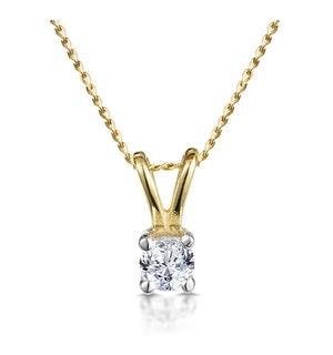 DIAMOND SOLITAIRE NECKLACE 0.15CT DIAMOND 9K YELLOW GOLD