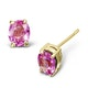 Pink Sapphire 0.45ct 9K Yellow Gold Earrings - image 1