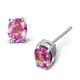 Pink Sapphire 5 X 4mm 18K White Gold Earrings - image 1