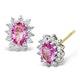 Pink Sapphire 6 X 4mm and Diamond 18K White Gold Earrings Feg27-Ru - image 1