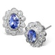 Tanzanite 6 x 4mm And Diamond 18K White Gold Earrings  FEG28-VY - image 1
