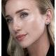 Blue Topaz 7 x 5mm and 9K White Gold Earrings - image 2