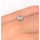 Pink Sapphire and 0.07ct Diamond Ring 9K Yellow Gold - image 4