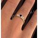 Kanchan Sapphire 3.75mm And Diamond 9K Gold Ring - image 4