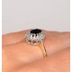 Sapphire 6 x 4mm And Diamond 9K Gold Ring. - image 4
