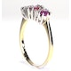Ruby 0.85ct And Diamond 9K Gold Ring - image 2
