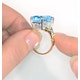 Blue Topaz 9.35CT 9K Yellow Gold Ring - image 3