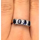Sapphire 5 x 3mm And Diamond 9K Gold Ring - image 3