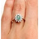 Emerald 6 x 4mm And Diamond 9K White Gold Ring  A4439 - image 3