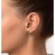 Emerald 4 x 3mm And Diamond 9K Yellow Gold Earrings - image 2