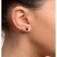 Sapphire 5mm x 4mm 9K White Gold Earrings - image 3