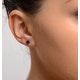 Sapphire 5mm x 4mm 9K White Gold Earrings - image 4