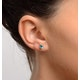 Emerald 5 x 4mm 9K White Gold Earrings - image 2