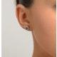 Emerald 0.21CT And Diamond 9K Yellow Gold Earrings - image 2