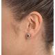 Emerald 6 x 4mm And Diamond 9K Yellow Gold Earrings  B3689 - image 4