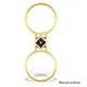 9K Gold Diamond and Sapphire Design Reversible Ring - E4851 - image 4