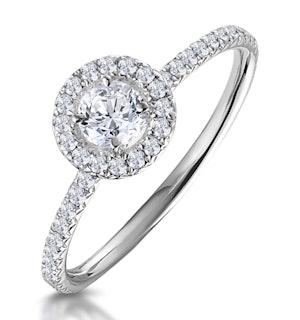 ELLA HALO DIAMOND ENGAGEMENT RING 0.53CT SET IN 9K WHITE GOLD