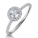 Ella Halo Diamond Engagement Ring 0.53ct set in 9K White Gold - image 1