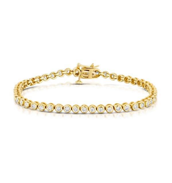 2ct Premium Diamond Tennis Bracelet in 18K Gold - image 1