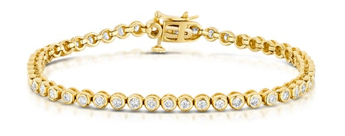 Rubover Set Diamond Bracelet