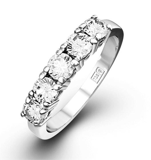 Chloe Platinum 5 Stone Diamond Eternity Ring 1.00CT H/SI