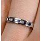 Sapphire 0.20ct And Diamond 9K White Gold Ring - image 3