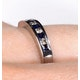 Sapphire 0.20ct And Diamond 9K White Gold Ring - image 4
