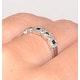 Sapphire 0.18ct And Diamond 9K White Gold Ring - image 3