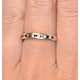 Sapphire 0.12ct And Diamond 9K Gold Ring - image 4