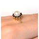 Pearl And Sapphire 9K Gold Ring - image 2