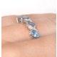 Blue Topaz 0.98CT And Diamond 9K White Gold Ring - image 3