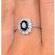 Sapphire 7 x 5mm and Diamond 9K White Gold Ring  E5891 - image 4
