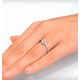 Halo Ring with 0.11ct of Diamonds set in 9K White Gold - image 4