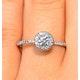 Ella Halo Diamond Engagement Ring 0.53ct set in 9K White Gold - image 3