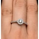 Halo Engagement Ring Martini Diamond 0.45CT Ring in 9K Gold E5972 - image 4