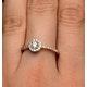 Halo Engagement Ring Martini Diamond 0.45CT Ring in 9K Rose Gold E5974 - image 4