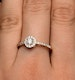 Halo Engagement Ring Martini Diamond 0.45CT Ring in 9K Rose Gold E5974 - image 4