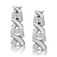 0.10ct Diamond Pave Kisses Earrings in 9K White Gold - RTC-H3882 - image 1