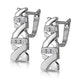 0.10ct Diamond Pave Kisses Earrings in 9K White Gold - RTC-H3882 - image 2
