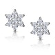Diamond Cluster Earrings 0.30ct White Gold - image 1
