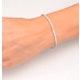 Diamond Tennis Bracelet Chloe 3.00ct H/Si Claw Set in 18K Gold - image 4