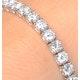 Diamond Tennis Bracelet Chloe 6.00ct Premium Claw Set 18K White Gold - image 3