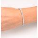 Diamond Tennis Bracelet Chloe 6.00ct Premium Claw Set 18K White Gold - image 4
