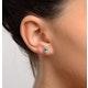 Emerald 5 x 4mm 18K White Gold Earrings - image 2