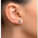 Emerald 5 x 4mm 18K White Gold Earrings - image 3