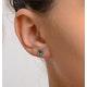 Emerald 5 x 4mm 18K White Gold Earrings - image 4
