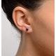 Sapphire 5mm x 4mm 18K White Gold Earrings - image 2